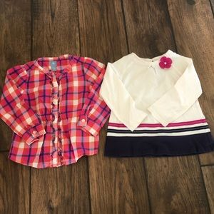 Baby Gap plaid & Gymboree long sleeve top